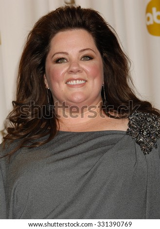 LOS ANGELES - FEB 24 - Melissa McCarthy arrives at the 85th Annual Academy Awards Press Room  on February 24, 2013 in Los Angeles, CA              - stock photo
