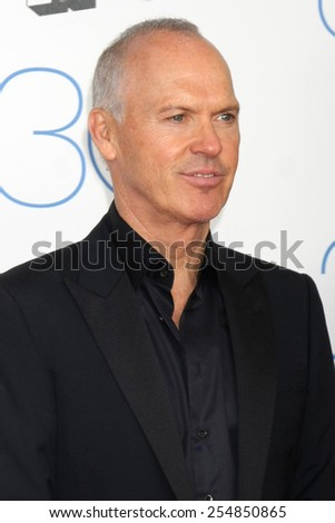 LOS ANGELES - FEB 21:  Michael Keaton at the 30th Film Independent Spirit Awards at a tent on the beach on February 21, 2015 in Santa Monica, CA - stock photo