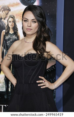 LOS ANGELES - FEB 2: Mila Kunis at the 'Jupiter Ascending' Los Angeles Premiere at TCL Chinese Theater on February 2, 2015 in Hollywood, Los Angeles, California - stock photo