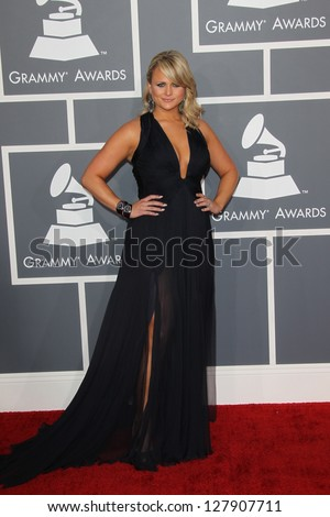 LOS ANGELES - FEB 10:  Miranda Lambert arrives at the 55th Annual Grammy Awards at the Staples Center on February 10, 2013 in Los Angeles, CA - stock photo