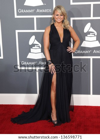 LOS ANGELES - FEB 10:  Miranda Lambert arrives to the Grammy Awards 2013  on February 10, 2013 in Los Angeles, CA.