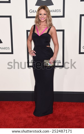 LOS ANGELES - FEB 08:  Miranda Lambert arrives to the Grammy Awards 2015  on February 8, 2015 in Los Angeles, CA                 - stock photo