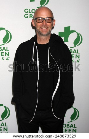 LOS ANGELES - FEB 26:  Moby at the Global Green USA Pre-Oscar Event at Avalon Hollywood on February 26, 2014 in Los Angeles, CA - stock photo