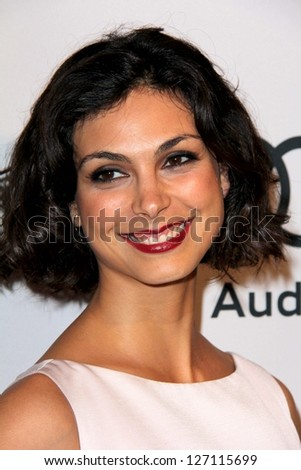LOS ANGELES - FEB 4:  Morena Baccarin arrives at the Hollywood Reporter Celebrates the 85th Academy Awards Nominees event at the Spago on February 4, 2013 in Beverly Hills, CA - stock photo