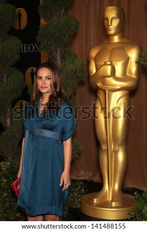 LOS ANGELES - FEB 7:  NATALIE PORTMAN arrives to the 83rd Academy Awards Nominees Luncheon  on Feb 7, 2011 in Beverly Hills, CA - stock photo