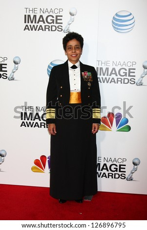 LOS ANGELES - FEB 1:  Navy Vice Admiral Michelle Howard arrives at the 44th NAACP Image Awards at the Shrine Auditorium on February 1, 2013 in Los Angeles, CA.