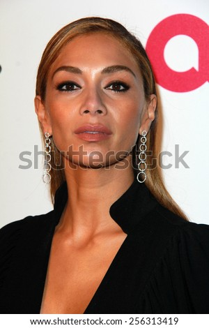 LOS ANGELES - FEB 22:  Nicole Scherzinger at the Elton John Oscar Party 2015 at the City Of West Hollywood Park on February 22, 2015 in West Hollywood, CA - stock photo