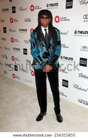 LOS ANGELES - FEB 22:  Nile Rodgers at the Elton John Oscar Party 2015 at the City Of West Hollywood Park on February 22, 2015 in West Hollywood, CA - stock photo
