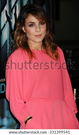LOS ANGELES - FEB 26 - Noomi Rapace arrives at the Dead Man Down World Premiere on February 26, 2013 in Los Angeles, CA              - stock photo