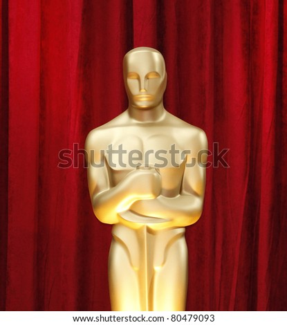 LOS ANGELES - FEB 22: Oscar statue in the press room at the Oscars held at the Kodak Theater in Los Angeles, California on February 22, 2009 - stock photo