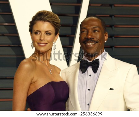 LOS ANGELES - FEB 22:  Paige Butcher, Eddie Murphy at the Vanity Fair Oscar Party 2015 at the Wallis Annenberg Center for the Performing Arts on February 22, 2015 in Beverly Hills, CA - stock photo