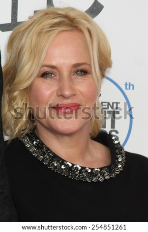 LOS ANGELES - FEB 21:  Patricia Arquette at the 30th Film Independent Spirit Awards at a tent on the beach on February 21, 2015 in Santa Monica, CA - stock photo