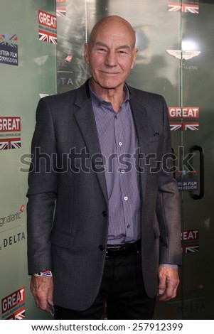 LOS ANGELES - FEB 20:  Patrick Stewart at the GREAT British Film Reception Honoring The British Nominees Of The 87th Annual Academy Awards at a London Hotel on February 20, 2015 in West Hollywood, CA - stock photo