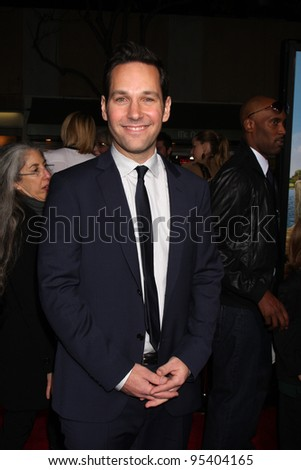 "LOS ANGELES - FEB 16:  Paul Rudd arrives at the ""Wanderlust"" World Premiere at the Village Theater on February 16, 2012 in Westwood, CA"