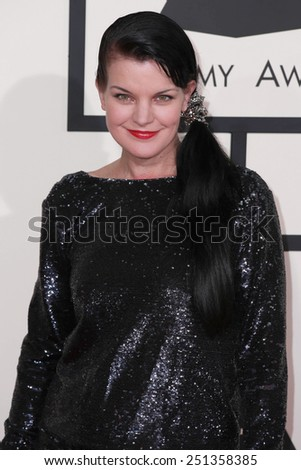 LOS ANGELES - FEB 8:  Pauley Perrette at the 57th Annual GRAMMY Awards Arrivals at a Staples Center on February 8, 2015 in Los Angeles, CA - stock photo