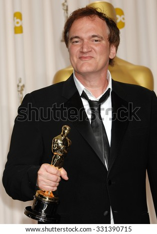LOS ANGELES - FEB 24 - Quentin Tarantino arrives at the 85th Annual Academy Awards Press Room  on February 24, 2013 in Los Angeles, CA              - stock photo