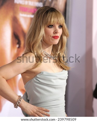 LOS ANGELES - FEB 06:  RACHEL McADAMS arrives to the 'The Vow' World Premiere  on February 06, 2012 in Hollywood, CA                 - stock photo