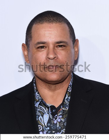 LOS ANGELES - FEB 14:  Raymond Cruz arrives to the Make-Up Artists & Hair Stylists Guild Awards 2015  on February 14, 2015 in Hollywood, CA                 - stock photo