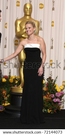LOS ANGELES -  FEB 27:  Reese Witherspoon arrives in the Press Room at the 83rd Academy Awards at Kodak Theater, Hollywood & Highland on February 27, 2011 in Los Angeles, CA - stock photo