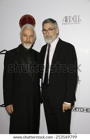 LOS ANGELES - FEB 14: Rick Baker, John Landis at the Make-Up Artists & Hair Stylists Guild Awards at the Paramount Theater on February 14, 2015 in Los Angeles, CA - stock photo