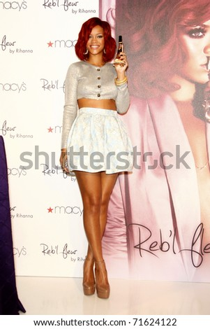 LOS ANGELES - FEB 18:  Rihanna at the Instore Appearance for her Fragrance Launch of 'Reb?l Fleur' at Macy's  on February 18, 2011 in Lakewood, CA - stock photo