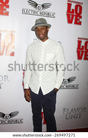 """LOS ANGELES - FEB 13:  Robbie Jones at the """"Brotherly Love"""" LA Premiere at the Silver Screen Theater at the Pacific Design Center on April 13, 2015 in West Hollywood, CA - stock photo"""