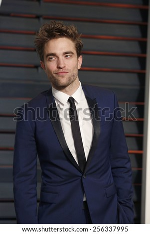 LOS ANGELES - FEB 22:  Robert Pattinson at the Vanity Fair Oscar Party 2015 at the Wallis Annenberg Center for the Performing Arts on February 22, 2015 in Beverly Hills, CA - stock photo
