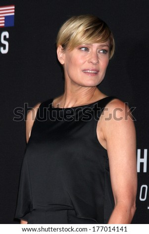 "LOS ANGELES - FEB 13:  Robin Wright at the ""House of Cards"" Season 2 Special Screening at Directors Guild of America on February 13, 2014 in Los Angeles, CA"