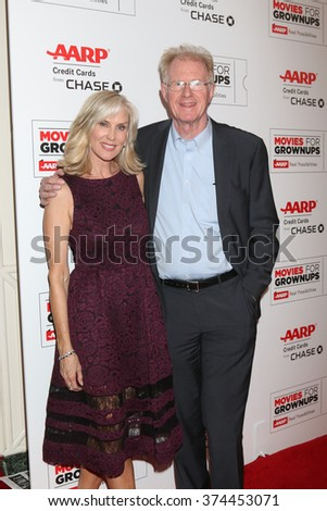 LOS ANGELES - FEB 8:  Rochelle Carson, Ed Begley Jr at the 15th Annual Movies For Grownups Awards at the Beverly Wilshire Hotel on February 8, 2016 in Beverly Hills, CA - stock photo