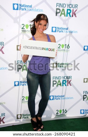 LOS ANGELES - FEB 9:  Roselyn Sanchez at the National Parks Service Announcement at the El Pueblo de Los Angeles Histgoric Monument on April 9, 2015 in Los Angeles, CA