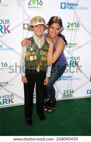 LOS ANGELES - FEB 9:  Roselyn Sanchez at the National Parks Service Announcement at the El Pueblo de Los Angeles Histgoric Monument on April 9, 2015 in Los Angeles, CA - stock photo