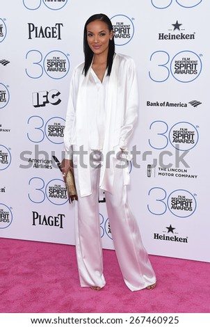 LOS ANGELES - FEB 21:  Selita Ebanks arrives to the 2015 Film Independent Spirit Awards  on February 21, 2015 in Santa Monica, CA                 - stock photo