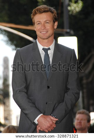 LOS ANGELES - FEB 14 - Simon Baker arrives at the Simon Baker  Star On The Hollywood Walk Of Fame Ceremony on February 14, 2013 in Los Angeles, CA              - stock photo