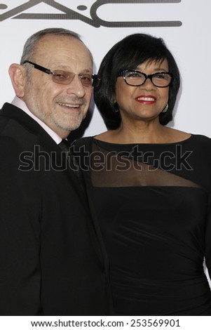 LOS ANGELES - FEB 14: Stanley Isaacs, Cheryl Boone Isaacs at the Make-Up Artists & Hair Stylists Guild Awards at the Paramount Theater on February 14, 2015 in Los Angeles, CA - stock photo