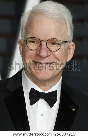 LOS ANGELES - FEB 22:  Steve Martin at the Vanity Fair Oscar Party 2015 at the Wallis Annenberg Center for the Performing Arts on February 22, 2015 in Beverly Hills, CA - stock photo