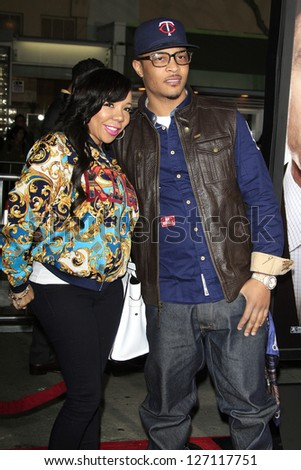 LOS ANGELES - FEB 4: T.I., aka Clifford Joseph Harris Jr., wife Tiny, aka Tameka Harris at the Premiere Of Universal Pictures' 'Identity Theft' on February 4, 2013 in Los Angeles, California