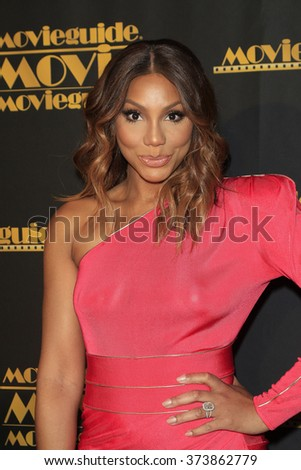 LOS ANGELES - FEB 5: Tamar Braxton at the 24th Annual MovieGuide Awards at Universal Hilton Hotel on February 5, 2016 in Universal City, Los Angeles, California - stock photo