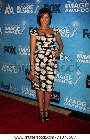 LOS ANGELES - FEB 12:  Tamara Mowry arrives at the 2011 NAACP Image Awards Nominee Reception at Beverly Hills Hotel on February 12, 2011 in Beverly Hills, CA