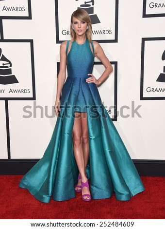 LOS ANGELES - FEB 08:  Taylor Swift arrives to the Grammy Awards 2015  on February 8, 2015 in Los Angeles, CA                 - stock photo