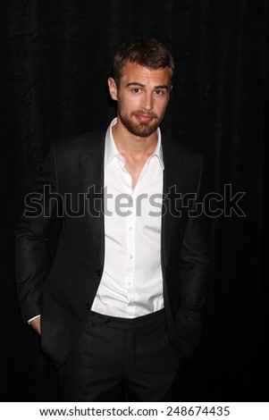 LOS ANGELES - FEB 28:  Theo James at the 2014 Publicist Luncheon at Beverly Wilshire Hotel on February 28, 2014 in Beverly Hills, CA - stock photo