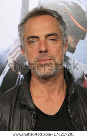 LOS ANGELES - FEB 10: Titus Welliver at the premiere of Columbia Pictures' 'Robocop' at TCL Chinese Theatre on February 10, 2014 in Los Angeles, California