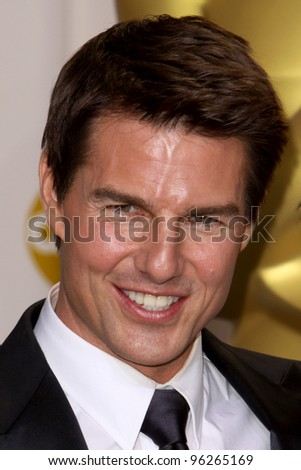 LOS ANGELES - FEB 26:  Tom Cruise arrives at the 84th Academy Awards at the Hollywood & Highland Center on February 26, 2012 in Los Angeles, CA. - stock photo