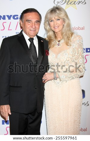 LOS ANGELES - FEB 22:  Tony Lo Bianco, Alyse Best Muldoon at the Night of 100 Stars Oscar Viewing Party at the Beverly Hilton Hotel on February 22, 2015 in Beverly Hills, CA - stock photo