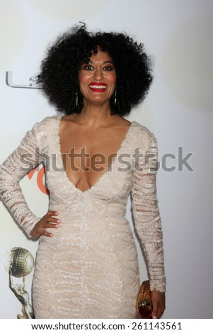LOS ANGELES - FEB 6:  Tracee Ellis Ross at the 46th NAACP Image Awards Arrivals at a Pasadena Convention Center on February 6, 2015 in Pasadena, CA - stock photo