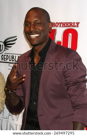 "LOS ANGELES - FEB 13:  Tyrese Gibson at the ""Brotherly Love"" LA Premiere at the Silver Screen Theater at the Pacific Design Center on April 13, 2015 in West Hollywood, CA - stock photo"