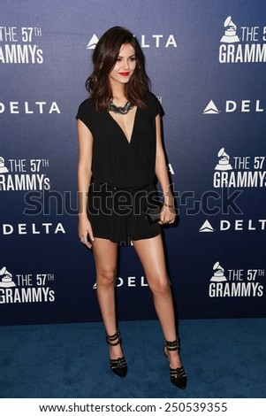 LOS ANGELES - FEB 5:  Victoria Justice at the Delta Air Lines Toasts 2015 GRAMMYs at a SOHO House on February 5, 2015 in West Hollywood, CA - stock photo