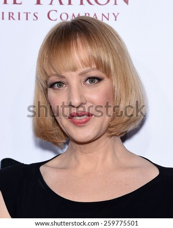 LOS ANGELES - FEB 14:  Wendi McLendon-Covey arrives to the Make-Up Artists & Hair Stylists Guild Awards 2015  on February 14, 2015 in Hollywood, CA                 - stock photo