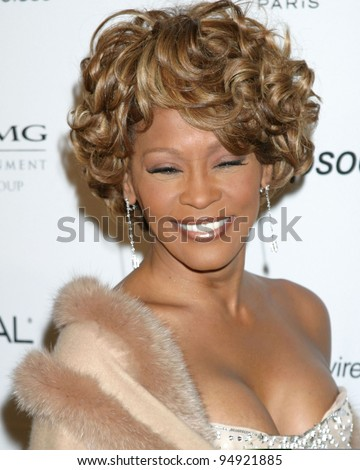 LOS ANGELES - FEB 10:  Whitney Houston arrives at the Clive Davis Annual Pre-Grammy Party at Beverly Hilton Hotel on February 10, 2007in Beverly Hills, CA - stock photo