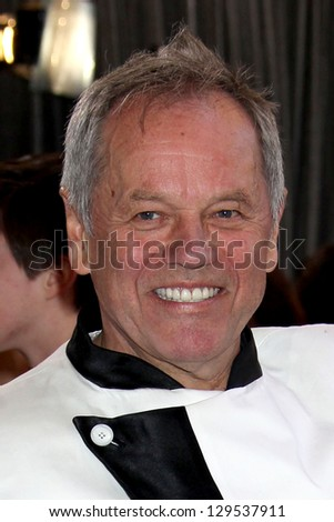 LOS ANGELES - FEB 24:  Wolfgang Puck arrives at the 85th Academy Awards presenting the Oscars at the Dolby Theater on February 24, 2013 in Los Angeles, CA - stock photo