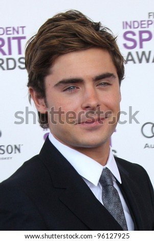 LOS ANGELES - FEB 25:  Zac Efron arrives at the 2012 Film Independent Spirit Awards at the Beach on February 25, 2012 in Santa Monica, CA